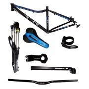 Kit Bike Quadro Aro 29 Suspensão Tyt Mtb 7 Peças - Azul