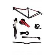 Kit Bike Quadro Aro 29 Suspensão Tyt Mtb 7 Peças - Vermelho