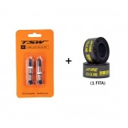 Kit Tubeless TSW Fita de Vedação Aro 24mm  + Válvulas 48mm Presta