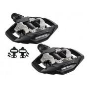 Pedal Shimano M530 Com Tacos Clip Bike Mtb Plataforma