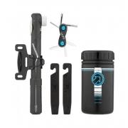 Porta Ferramenta Bike Shimano Pro C/ Canivete 6 Funcções E Bomba