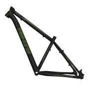 Quadro Bicicleta Aro 29 Alumínio MTB High One NEO - Preto / Verde