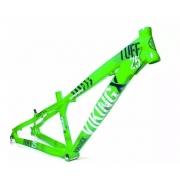 Quadro Vikingx Dirt Jump Tuff X-25 Alumínio Verde Neon