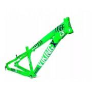 Quadro Vikingx Dirt Jump Tuff X-25 Alumínio - Verde Neon