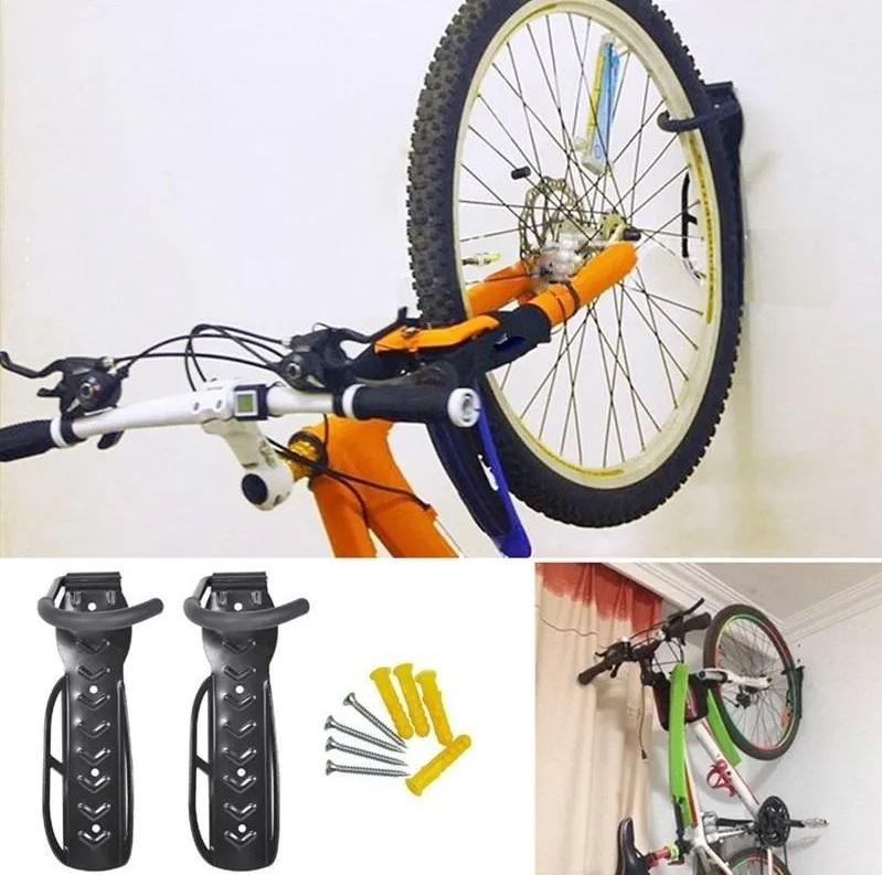 3x Suporte Parede Bike Vertical Gancho Pendurar Para Bicicleta