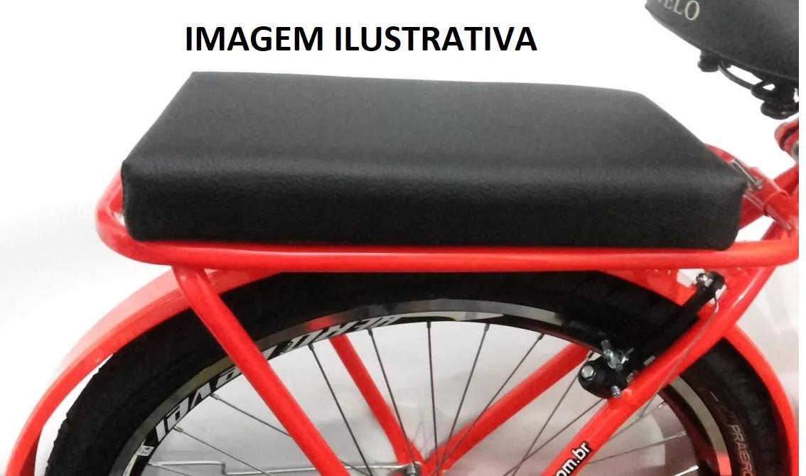 Assento Almofada P/ Bagageiro De Bicicleta Universal Banco