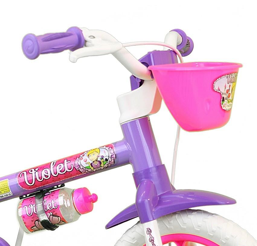 Bicicleta Aro 12 Infantil Nathor Violet - Lilás / Rosa