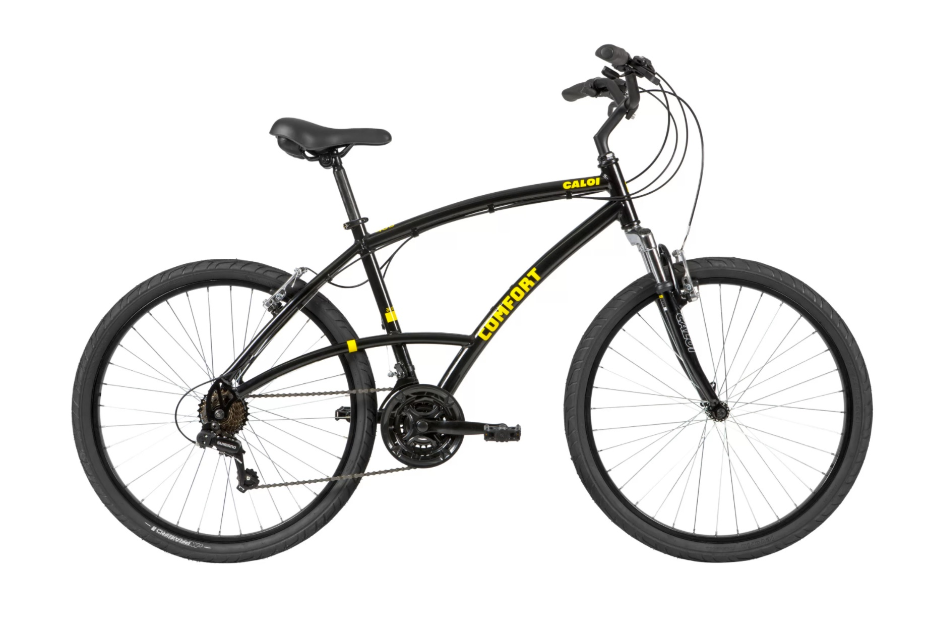 Bicicleta Aro 26 Masculina Caloi 400 Comfort 21v - Preto