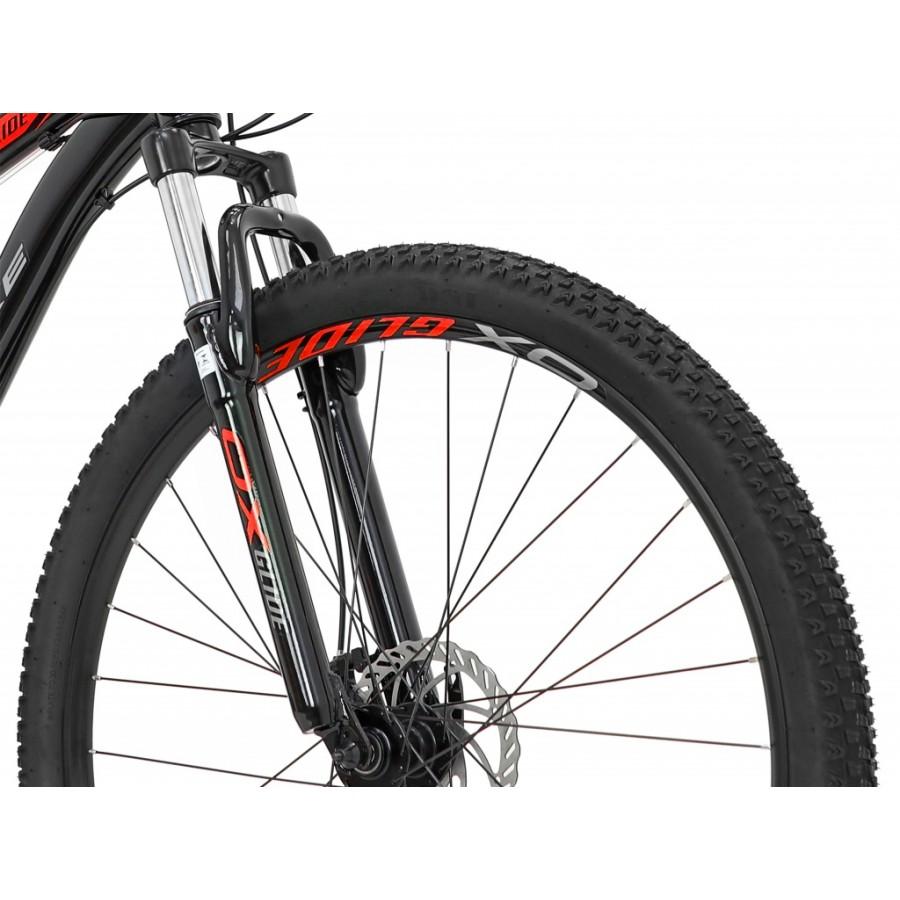 Bicicleta Aro 26 MTB OX Fighter Shimano 21v - Preto / Vermelho / Grafite