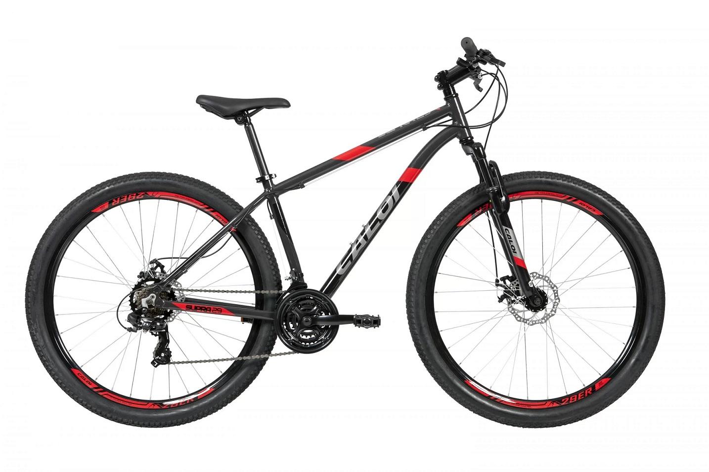 Bicicleta Aro 29 Caloi Supra 21v Shimano 2021 - Cinza Chumbo