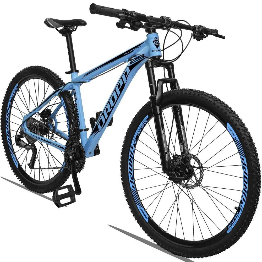 Bicicleta Aro 29 Dropp 27v Freio Hidráulico  - Azul / Preto  - Calil Sport Bike