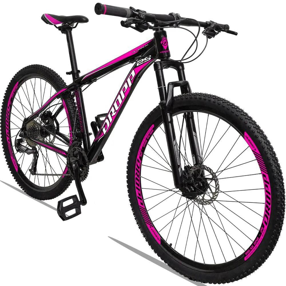 Bicicleta Aro 29 Dropp 27v Freio Hidráulico  - Preto / Rosa
