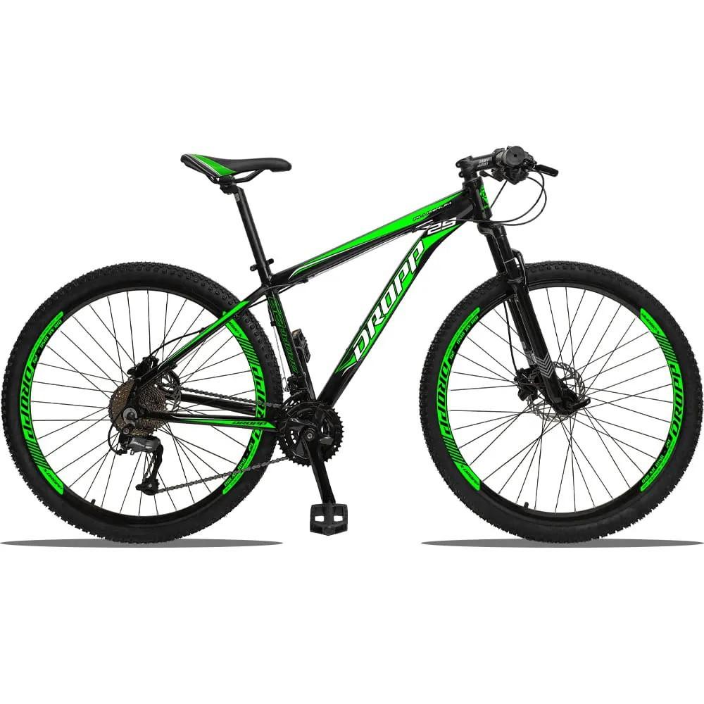Bicicleta Aro 29 Dropp 27v Freio Hidráulico  - Preto / Verde