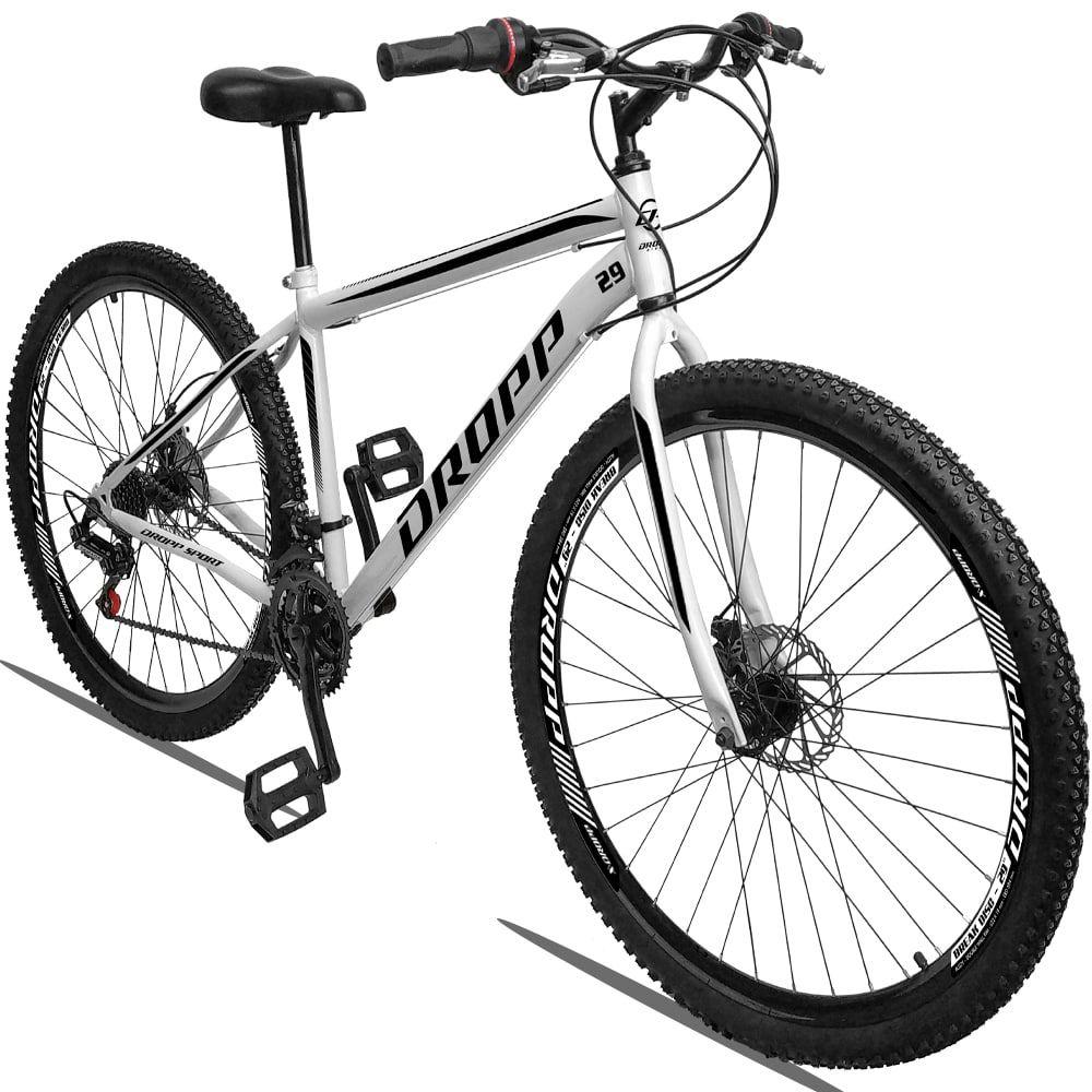 Bicicleta Aro 29 Dropp Sport Aço 21v Freio a Disco - Branco / Preto