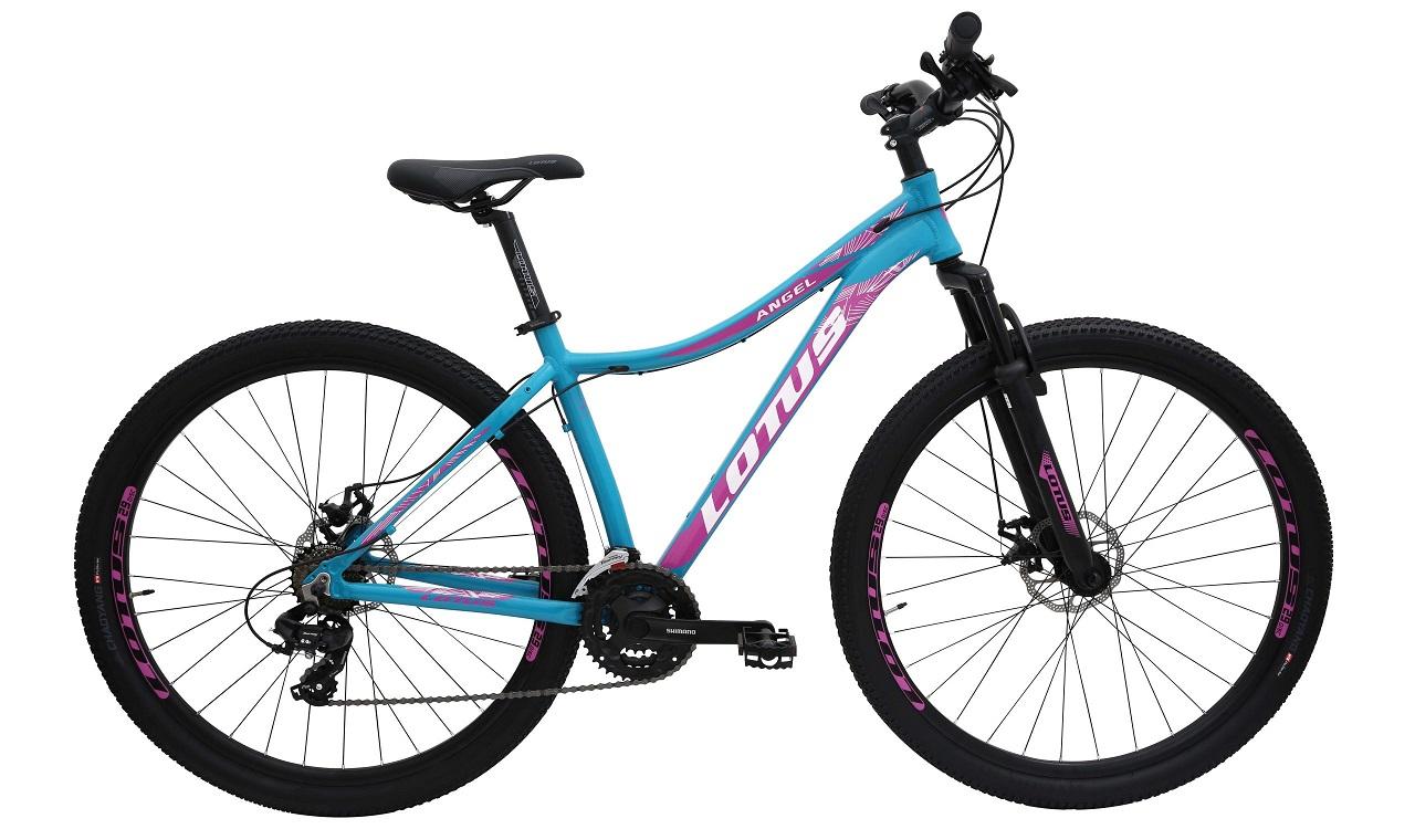 Bicicleta Aro 29 MTB Lotus Angel 21v - Azul / Rosa