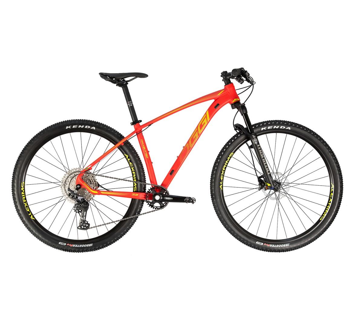 Bicicleta Aro 29 MTB OGGI Big Wheel 7.3 Deore 12v 2021 - Vermelho / Amarelo