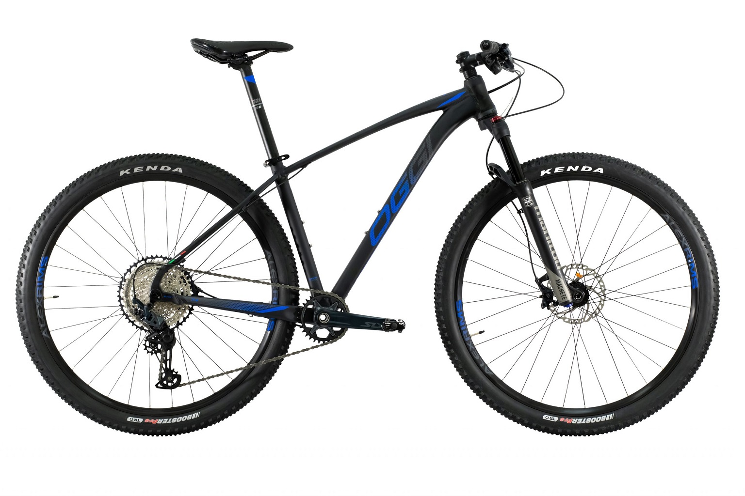 Bicicleta Aro 29 MTB Oggi Big Wheel 7.4 Shimano 12v 2021 - Preto / Azul / Grafite