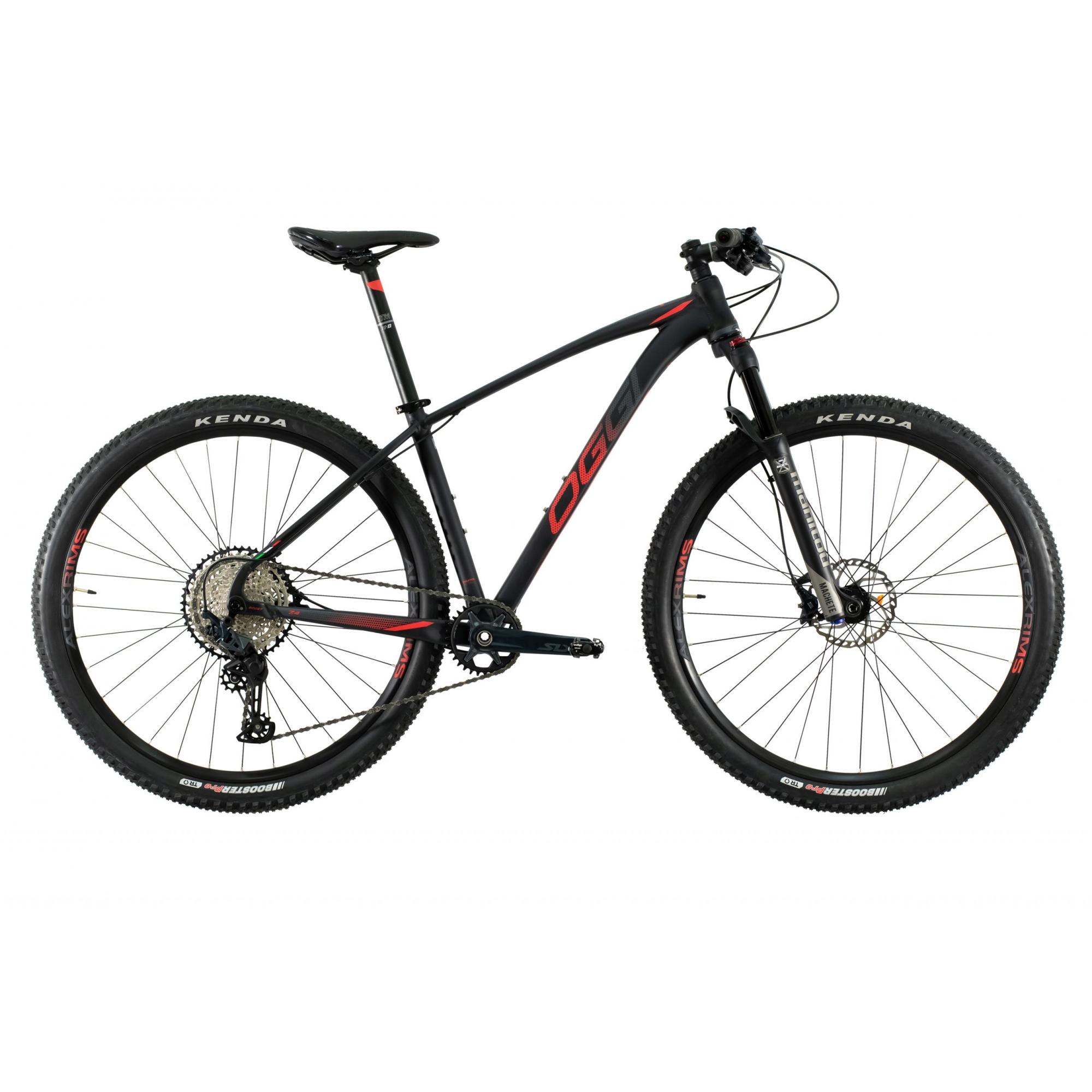 Bicicleta Aro 29 MTB Oggi Big Wheel 7.4 Shimano 12v 2021 - Preto / Vermelho / Grafite