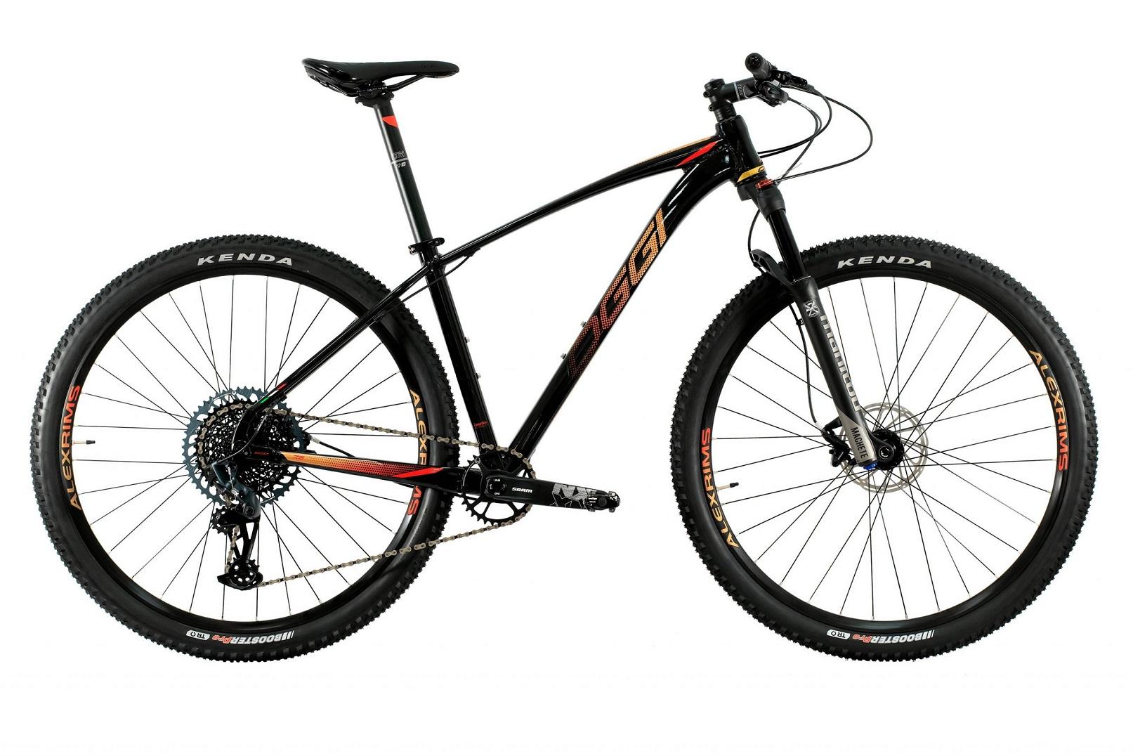 Bicicleta Aro 29 MTB Oggi Big Wheel 7.5 2021 GX Eagle 12v - Preto / Vermelho / Dourado