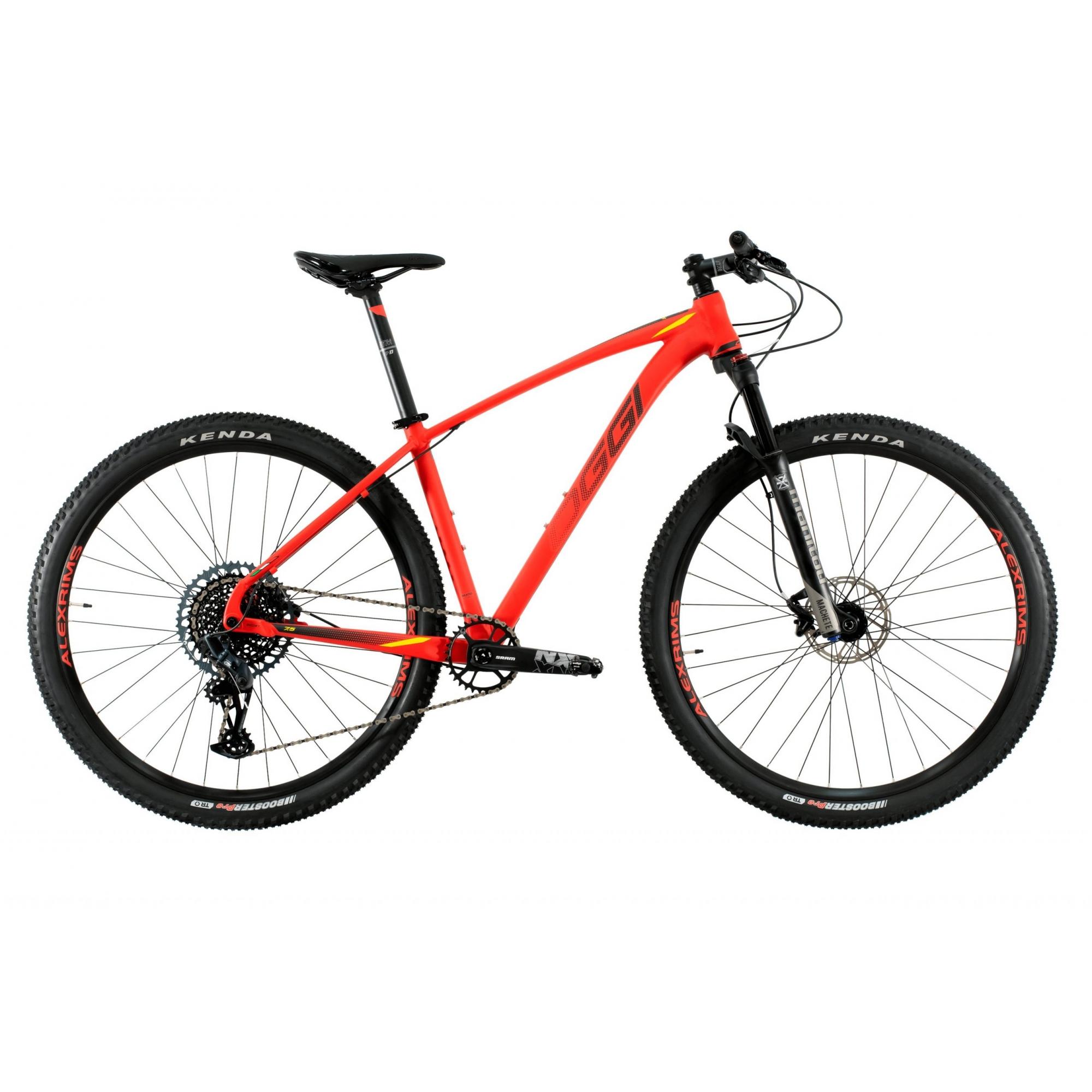 Bicicleta Aro 29 MTB Oggi Big Wheel 7.5 2021 GX Eagle 12v - Vermelho / Amarelo