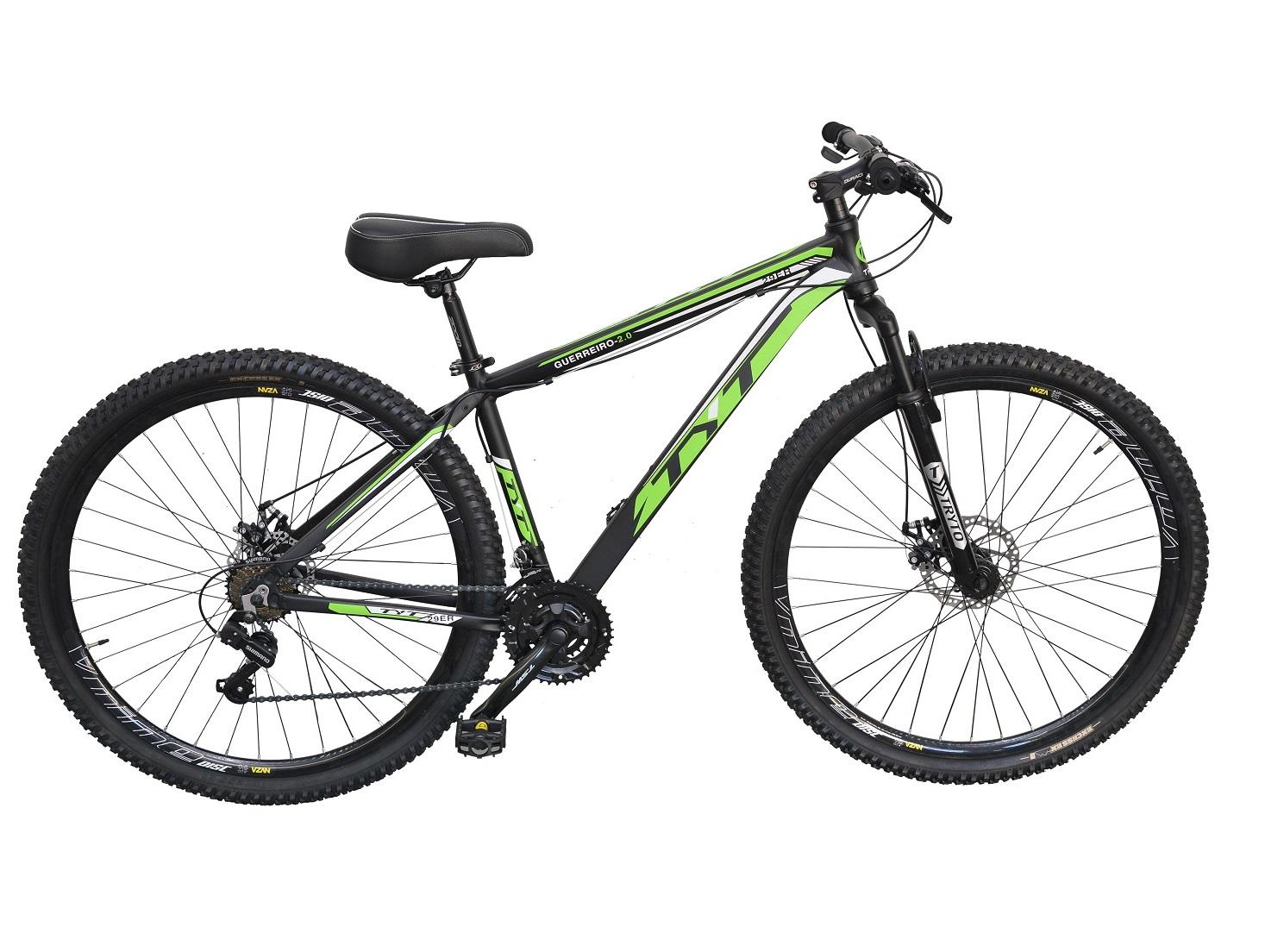 Bicicleta Aro 29 MTB Passeio TYT Guerreiro Shimano 21v - Verde