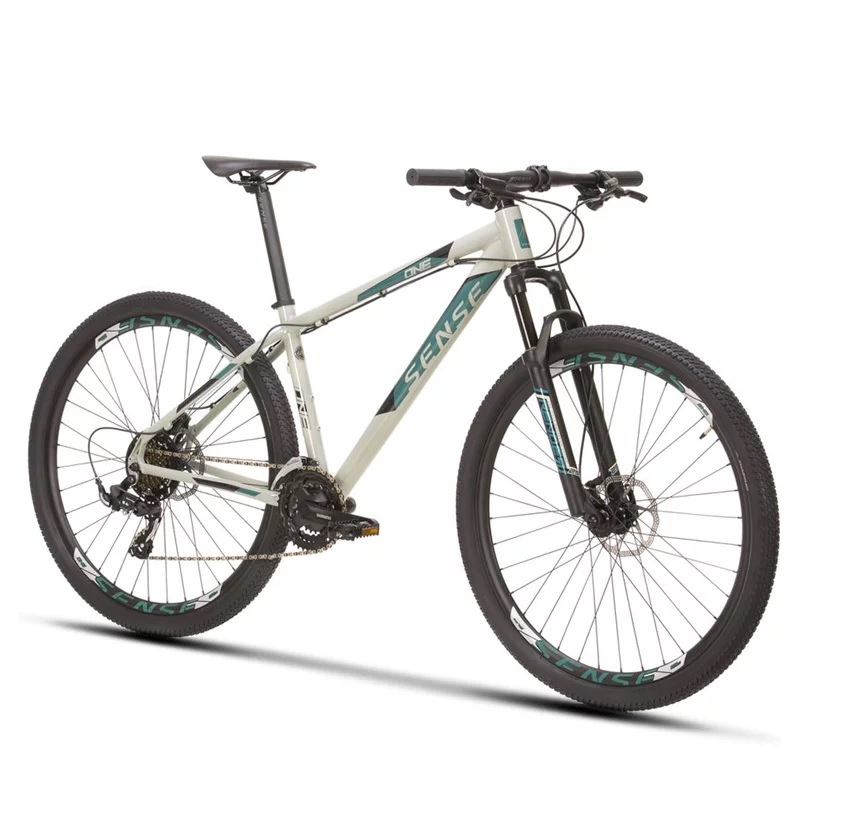 Bicicleta Aro 29 MTB Sense One 21v 2021 - Cinza / Aqua