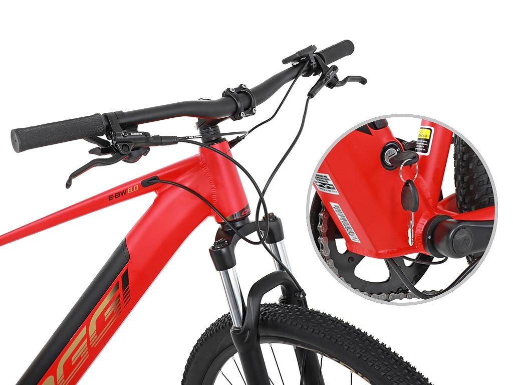 Bicicleta Aro 29 Oggi Big Wheel 8.0 E-Bike 2021 - Vermelho