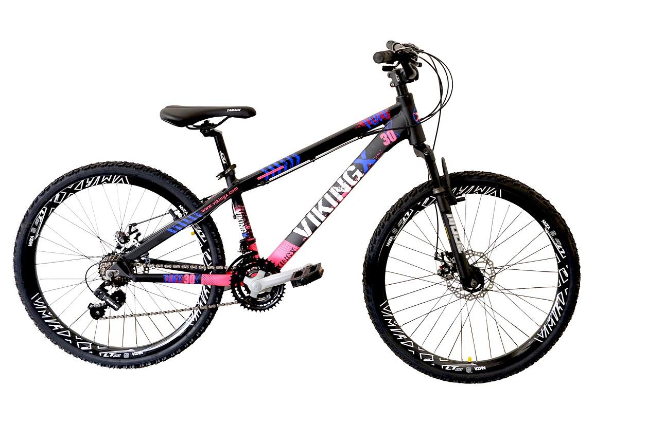 Bicicleta Freeride Passeio Viking 21v Aro 26 Preto / Rosa