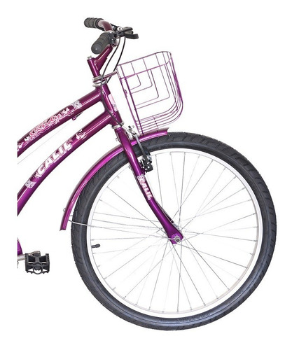 Bicicleta Infantil Passeio Calil Cindy Aro 24 Feminina - Violeta