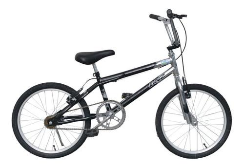 Bicicleta Infantil Dnz Aro 20 Bmx Cross - Preto C/ Prata