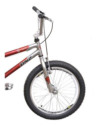 Bicicleta Infantil Dnz Turbo Aro 20 Bmx Cross - Vermelho C/ Prata
