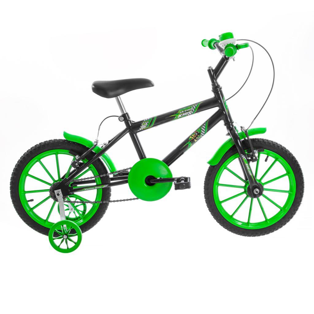 Bicicleta Infantil Masculina Ultra Kids Aro 16 - Preto / Verde