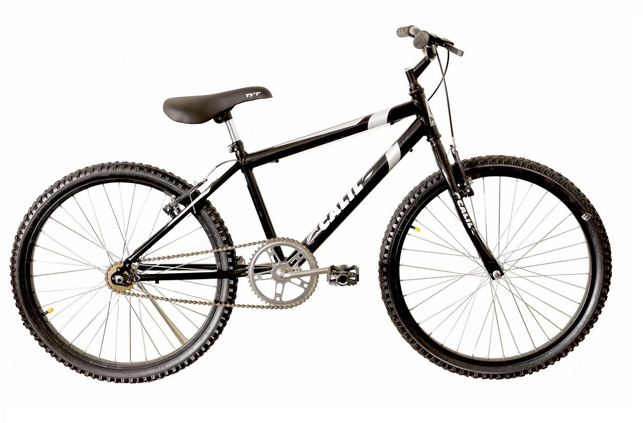 Bicicleta Infantil Passeio Aro 24 Calil Masculina - Preto