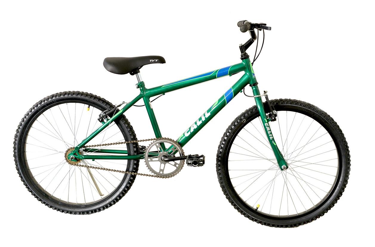 Bicicleta Infantil Passeio Aro 24 Calil Masculina - Verde