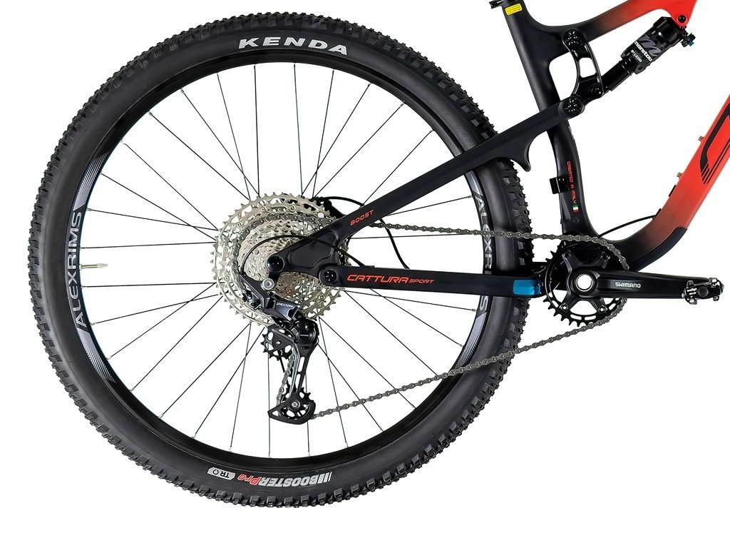 Bicicleta Aro 29 MTB Oggi Full Cattura Sport Carbon Deore 12v 2021 -  Preto / Vermelho