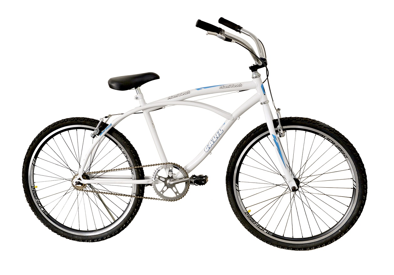 Bicicleta Passeio Aro 26 Calil Miami Beach Bike - Branco