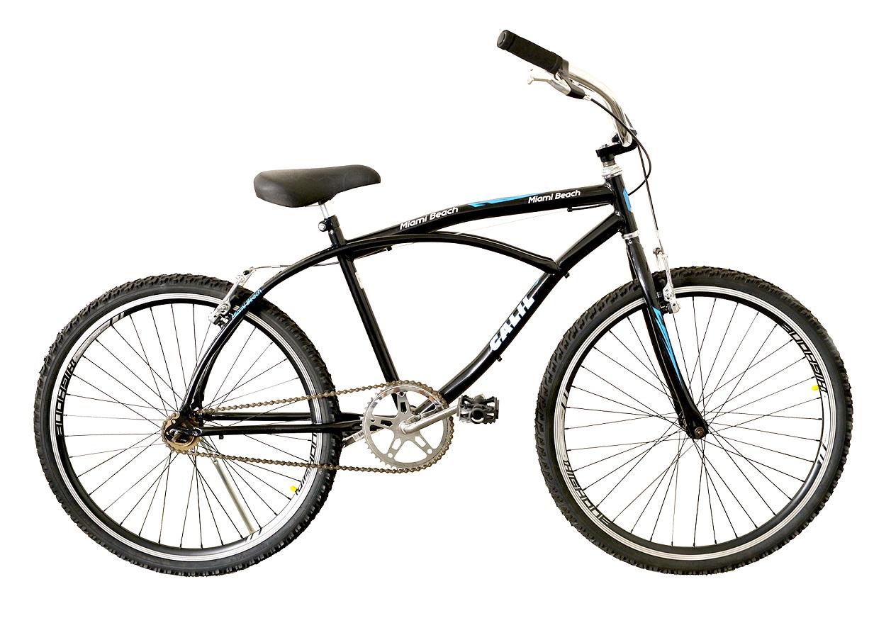 Bicicleta Passeio Aro 26 Calil Miami Beach Bike - Preto