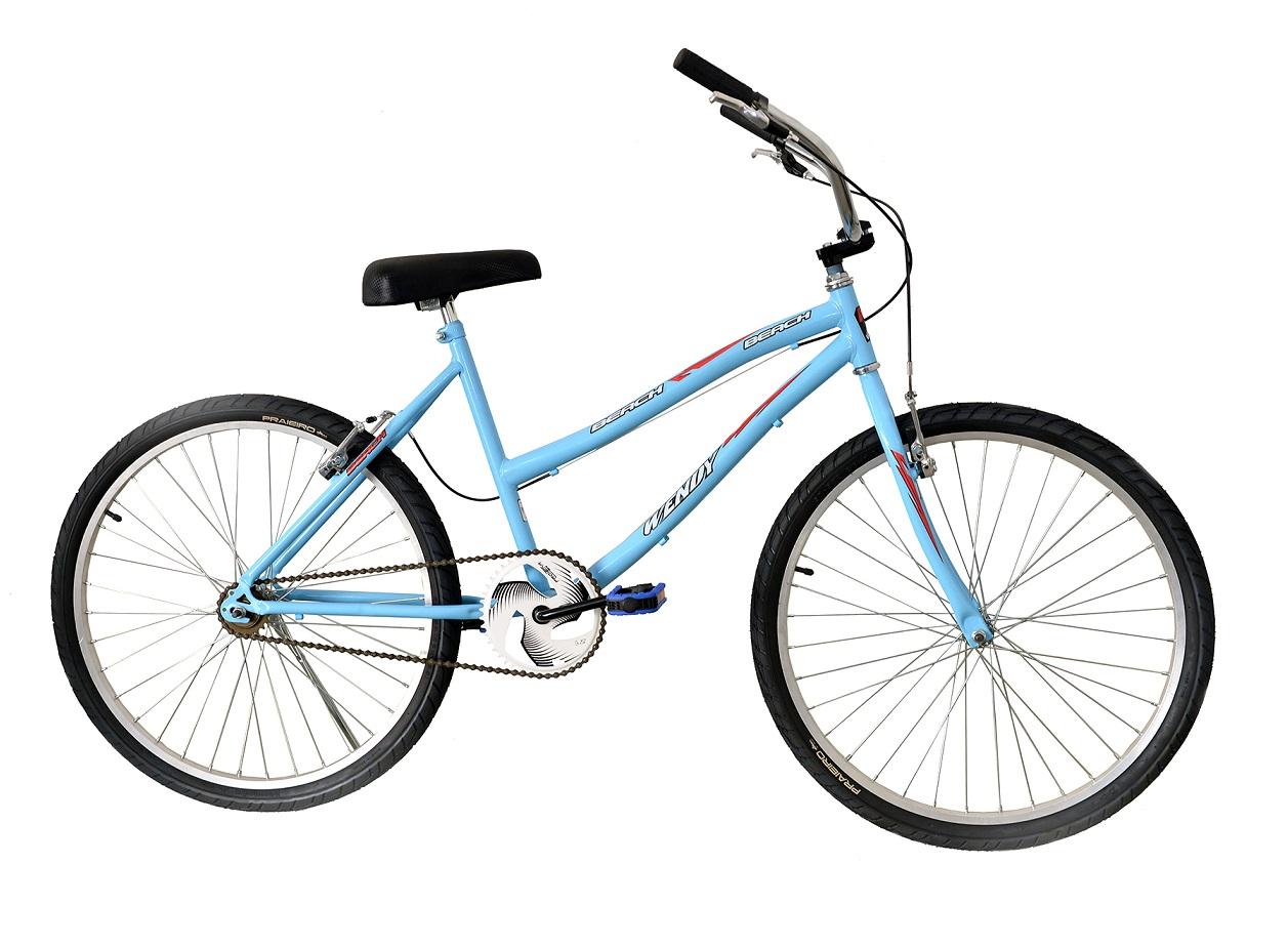 Bicicleta Passeio Aro 26 Wendy Bike Beach - Azul