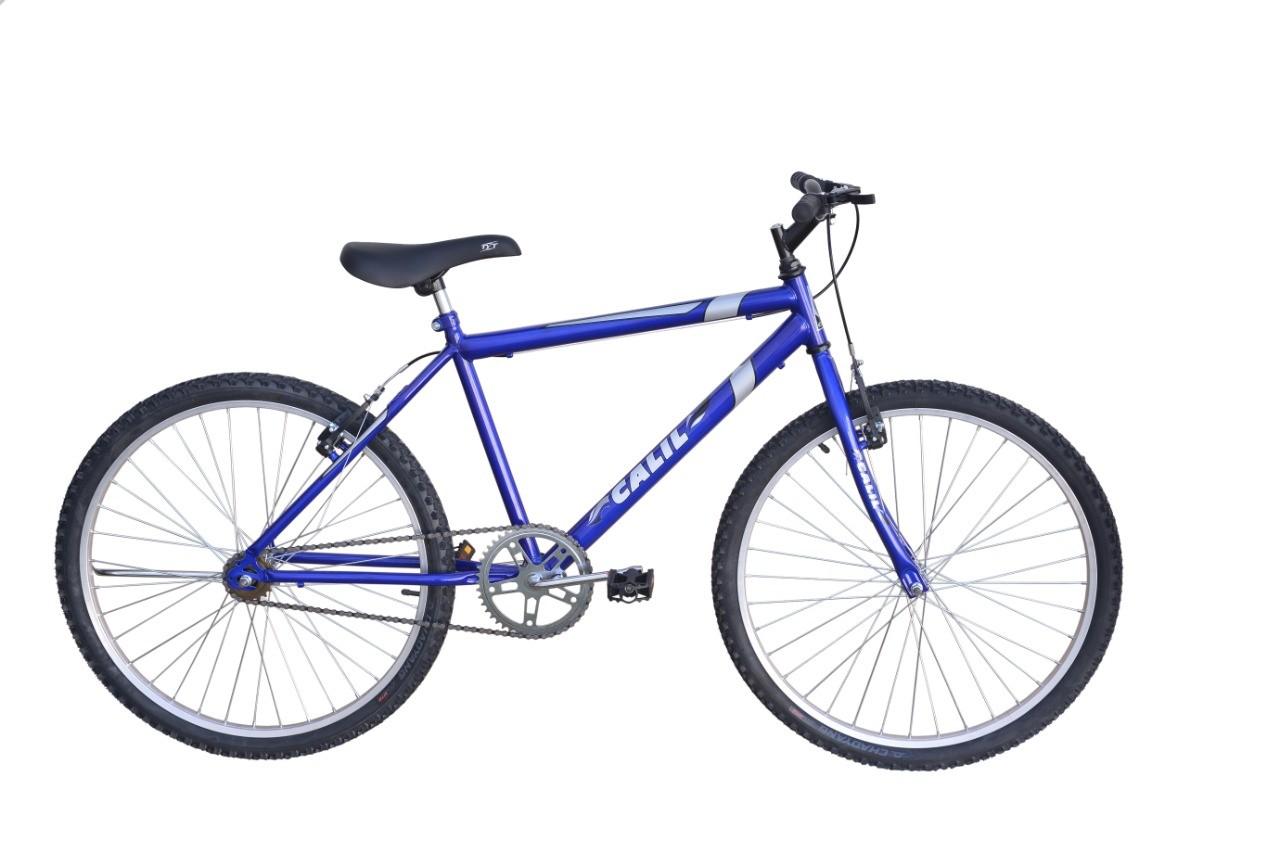Bicicleta Passeio Calil Bike Aro 26 Sem Marcha - Azul