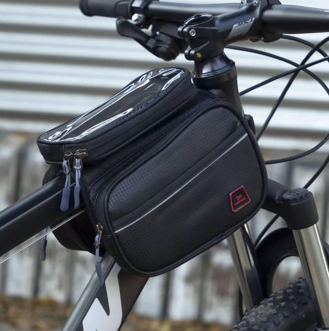 Bolsa Celular Alforge Para Quadro Bicicleta Promend Carbono