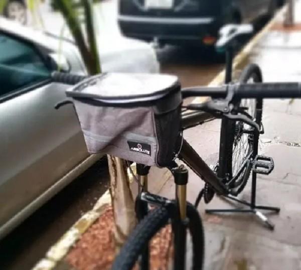 Bolsa Térmica para Guidão Bicicleta Absolute c/ Bolso Celular