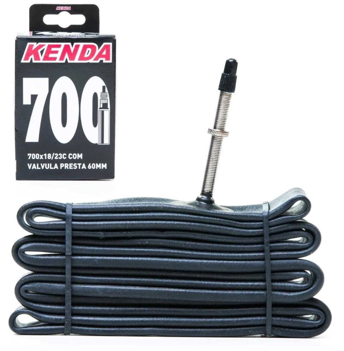 Câmara De Ar 700x18/23 Kenda Valv Presta Fino 60mm Speed