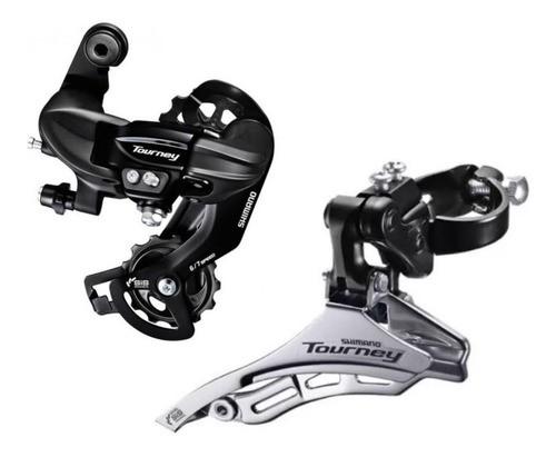 Cambio Traseiro Bike Shimano Tourney + Cambio Dianteiro TY300  - Calil Sport Bike