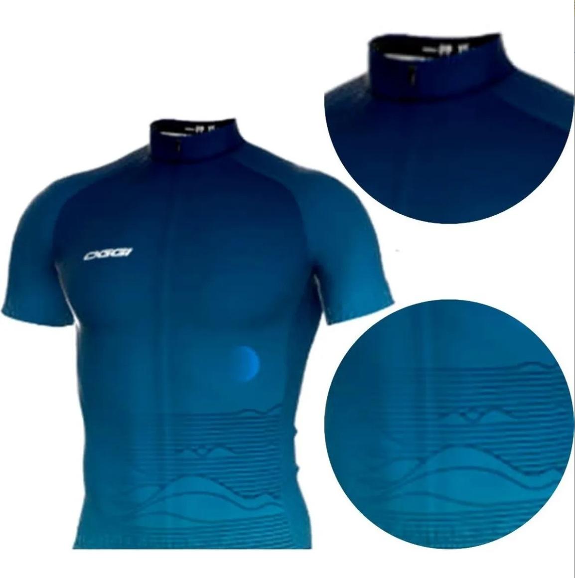 Camisa Ciclismo Bike Oggi Big Wheel Tour - Azul