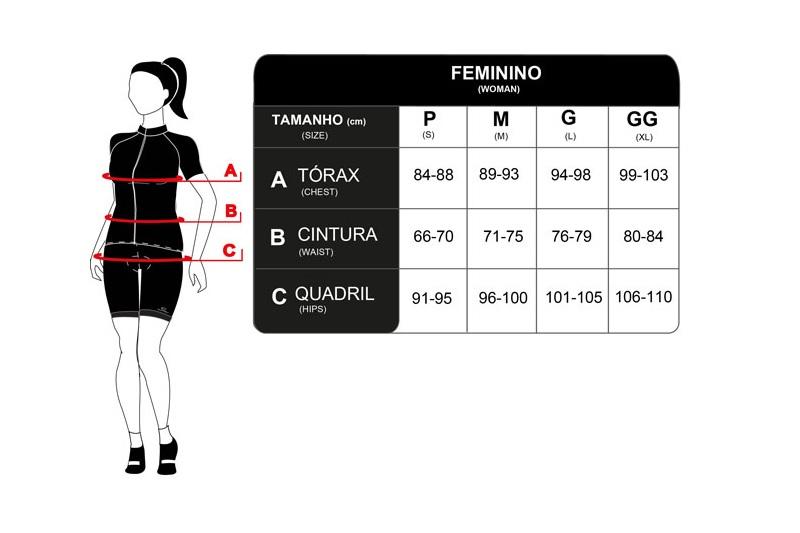 Camisa Ciclismo Feminina Mauro Ribeiro Comfort Draw