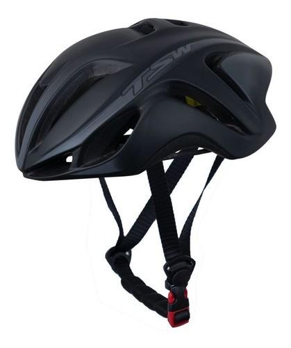 Capacete Bicicleta Ciclismo Tsw Team Plus - Preto / Cinza