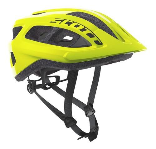 Capacete Bike Ciclismo Mtb Scott Supra - Amarelo Fluor  - Calil Sport Bike