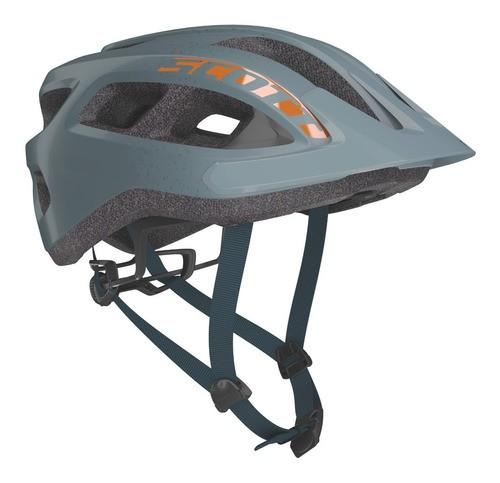Capacete Bike Ciclismo Mtb Scott Supra - Cinza / Laranja