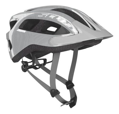 Capacete Bike Ciclismo Mtb Scott Supra - Prata / Cinza  - Calil Sport Bike