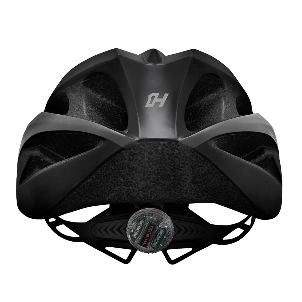 Capacete Bike Mtb High One Win c/ Led - Preto / Cinza
